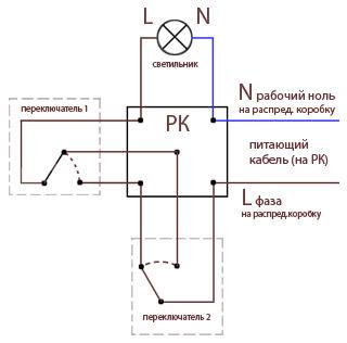 Схема включения проходного выключателя фото 246